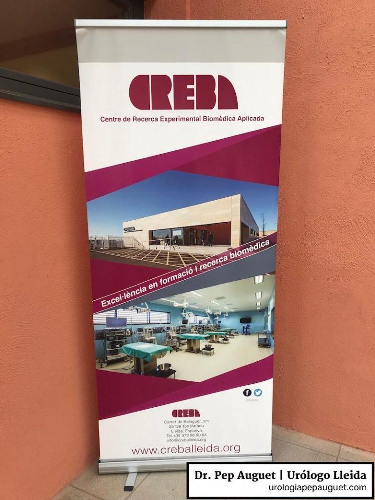 ¡Hoy toca hacer de profesor! en el curso de cirugía de próstata y riñón como en el Centro CREBA, Lleida.